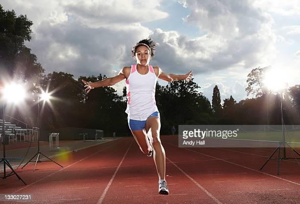 Sprint athlete Jodie Williams is photographed for the Observer on July 8 2011 in London England