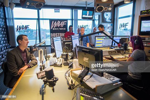 Sprint Cup Champion Kyle Busch left during an interview with Mistress Carrie on WAAFFM on August 31 2016 in Boston Massachusetts Kyle Busch will be...