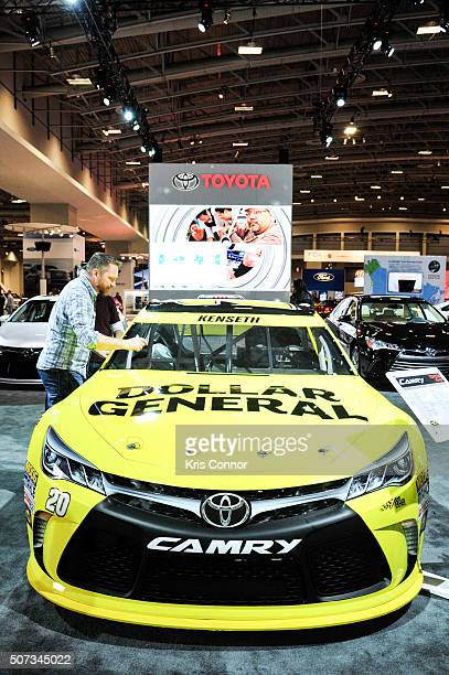 Sprint Cup Series Camry is on display during the Washington Auto Show at the Washington Auto Show in Washington DC on January 28 2016