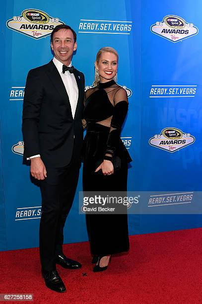 Sprint Cup Series Champion Crew Chief Chad Knaus and his wife Brooke Werner attend the 2016 NASCAR Sprint Cup Series Awards at Wynn Las Vegas on...