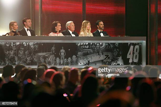 NASCAR Sprint Cup Series Champion Jimmie Johnson his wife Chandra NASCAR Sprint Cup Series Owner Champion Rick Hendrick his wife Linda NASCAR Sprint...
