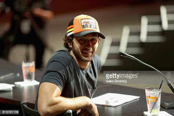 Sprint Cup series driver Chase Elliott judges the 21st annual Hooters International Swimsuit Pageant at The Pearl concert theater at Palms Casino...