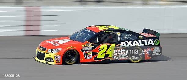 Sprint Cup Series driver Jeff Gordon during a practice session on Thursday October 3 at the Kansas Speedway in Kansas City Kansas