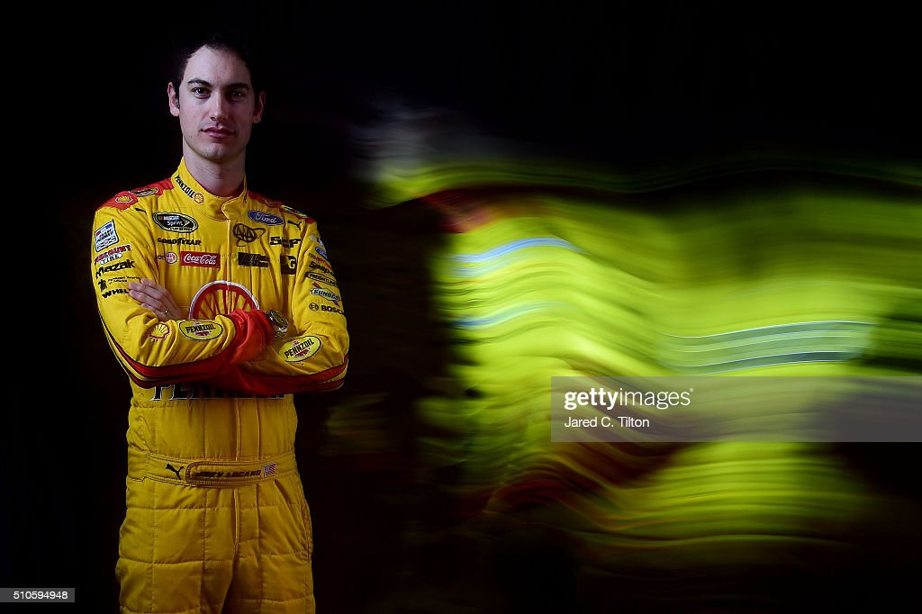 Sprint Cup Series driver Joey Logano poses for a portrait during NASCAR Media Day at Daytona International Speedway on February 16, 2016 in Daytona Beach, Florida.