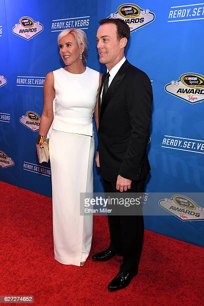 Sprint Cup Series driver Kevin Harvick and his wife Delana attend the 2016 NASCAR Sprint Cup Series Awards at Wynn Las Vegas on December 2 2016 in...
