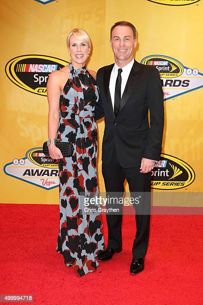 Sprint Cup Series driver Kevin Harvick and wife DeLana attend the 2015 NASCAR Sprint Cup Series Awards at Wynn Las Vegas on December 4, 2015 in Las...