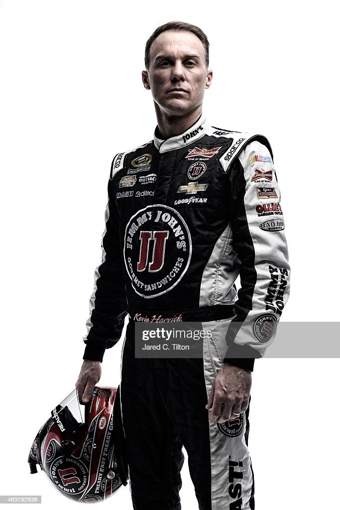 Sprint Cup Series driver Kevin Harvick poses for a portrait during the 2015 NASCAR Media Day at Daytona International Speedway on February 12, 2015 in Daytona Beach, Florida.
