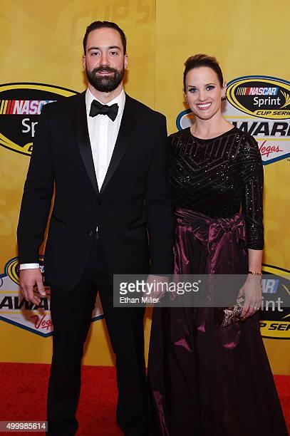 Sprint Cup Series driver Paul Menard and his wife Jennifer Menard attend the 2015 NASCAR Sprint Cup Series Awards at Wynn Las Vegas on December 4,...