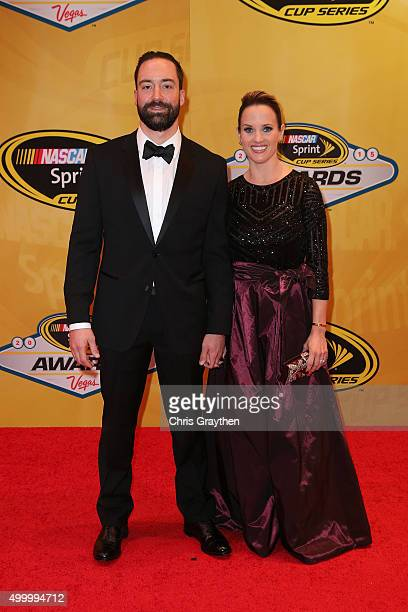 Sprint Cup Series driver Paul Menard and wife Jennifer attend the 2015 NASCAR Sprint Cup Series Awards at Wynn Las Vegas on December 4, 2015 in Las...