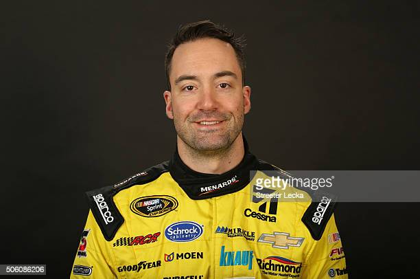 Sprint Cup Series driver Paul Menard poses for a portrait during day 3 of the 2016 Charlotte Motor Speedway Media Tour at NASCAR Hall of Fame on...