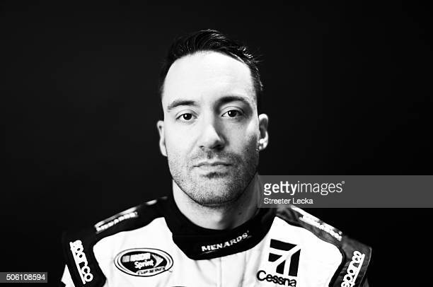 NASCAR Sprint Cup Series driver Paul Menard poses for a portrait during day 3 of the 2016 Charlotte Motor Speedway Media Tour at NASCAR Hall of Fame...