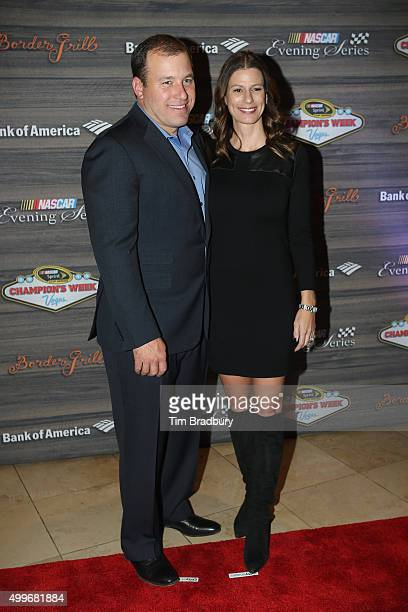 Sprint Cup Series driver Ryan Newman and wife Krissie attend the NASCAR Evening Series presented by Bank of America at Border Grill inside Caesars...