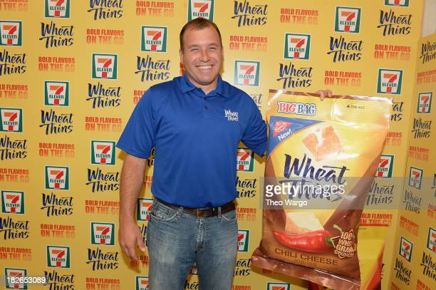 Sprint Cup Series Driver Ryan Newman Teams Up With Wheat Thins to take over 7Eleven Store on October 2 2013 in New York City
