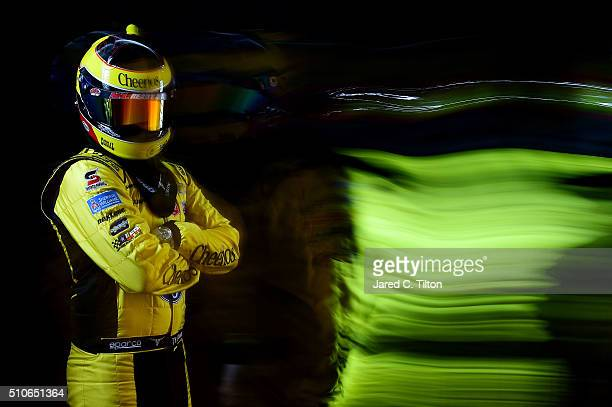 Sprint Cup Series driver Ty Dillon poses for a portrait during NASCAR Media Day at Daytona International Speedway on February 16 2016 in Daytona...