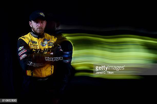 Sprint Cup Series Jeffrey Earnhardt poses for a portrait during NASCAR Media Day at Daytona International Speedway on February 16 2016 in Daytona...