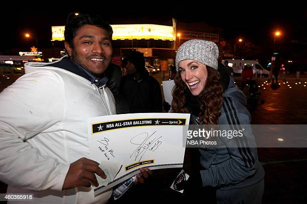 Sprint presents NBA 2015 All Star Balloting at Barclays Center on December 11 2014 in New York City New York NOTE TO USER User expressly acknowledges...