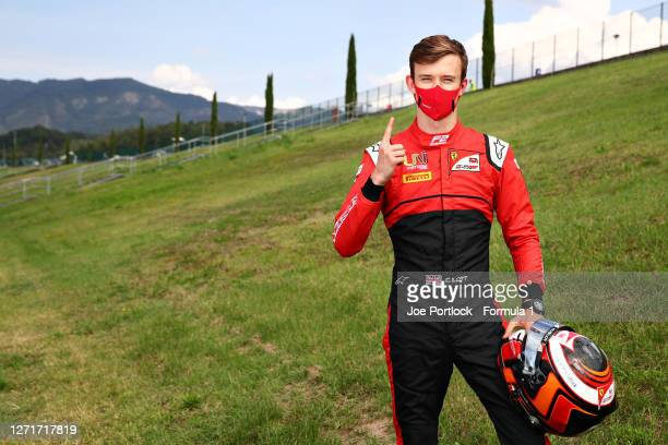 Sprint race winner in Monza, Callum Ilott of Great Britain and UNI-Virtuosi Racing poses for a photo during previews ahead of the Formula 2...