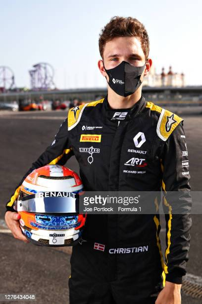 Sprint race winner in Mugello, Christian Lundgaard of Denmark and ART Grand Prix poses for a photo in the Paddock during previews ahead of the...