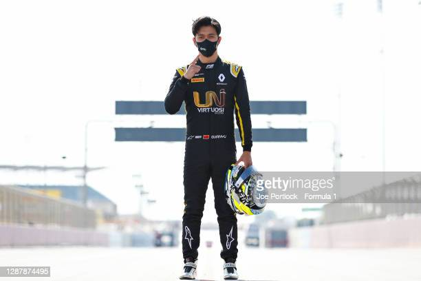 Sprint race winner in Russia, Guanyu Zhou of China and UNI-Virtuosi Racing poses for a photo during previews ahead of Round 11:Sakhir of the Formula...