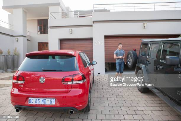 Sprint runner Oscar Pistorius is photographed at his home for Paris Match on April 18 2010 in Pretoria South Africa