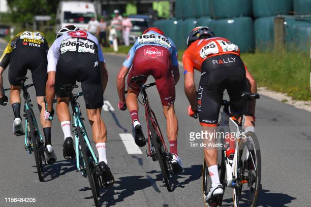 Sprint / Willie Smit of South Africa and Team Katusha Alpecin / Simon Pellaud of Switzerland and Team Switzerland / Bert Jan Lindeman of The...