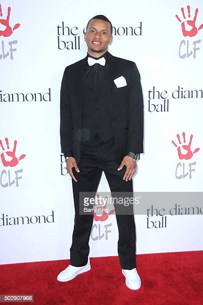 Sprinter Andre De Grasse attends the Rihanna And The Clara Lionel Foundation 2nd Annual Diamond Ball at The Barker Hanger on December 10 2015 in...