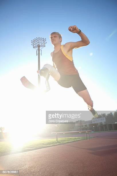Sprinter mid-jump