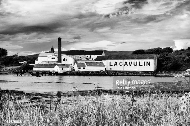 sprit of land, distilleries of scotland- lagavulin - platman stock pictures, royalty-free photos & images