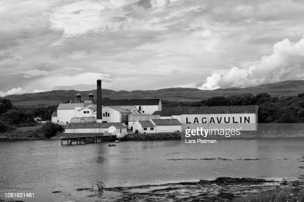 sprit of land, distilleries of scotland -lagavulin - platman stock pictures, royalty-free photos & images
