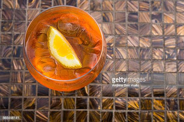 Aperol spritz cafe summer cocktail