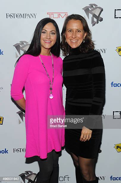 Sprout Pharmaceuticals CEO Cindy Whitehead and 23andMe CEO Anne Wojcicki attend 'The Fast Company Innovation Festival' Data Drugs The New Evolution...