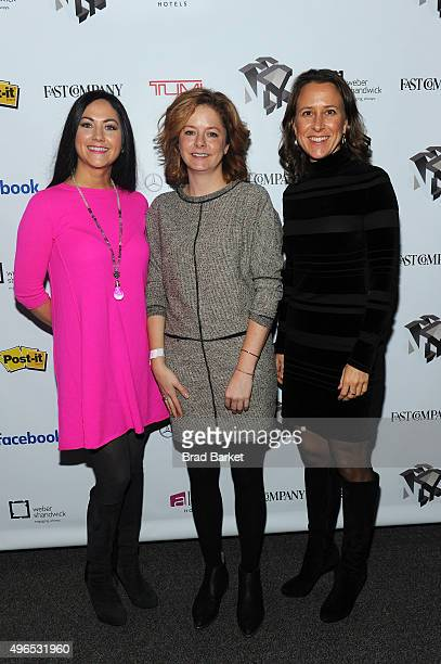 Sprout Pharmaceuticals CEO Cindy Whitehead Host of Marketplace Weekend Lizzie O'Leary and 23andMe CEO Anne Wojcicki attend 'The Fast Company...