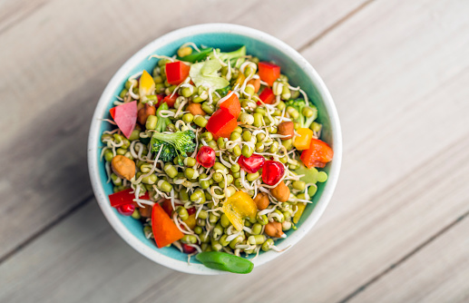 Sprouted Lentil Salad 1127740593
