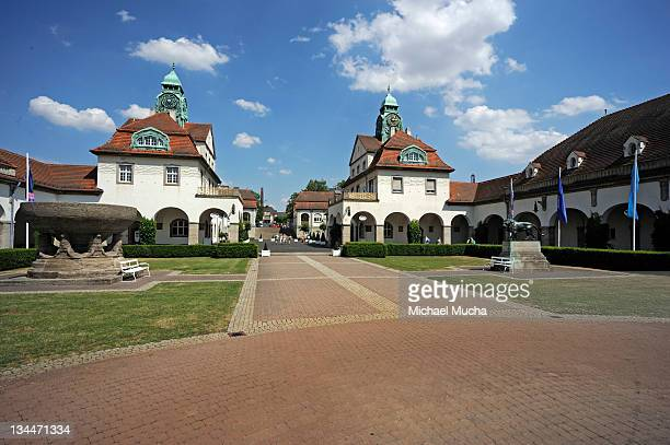 sprudelhof spa house, bad nauheim, hesse, germany, europe - michael mucha stock-fotos und bilder