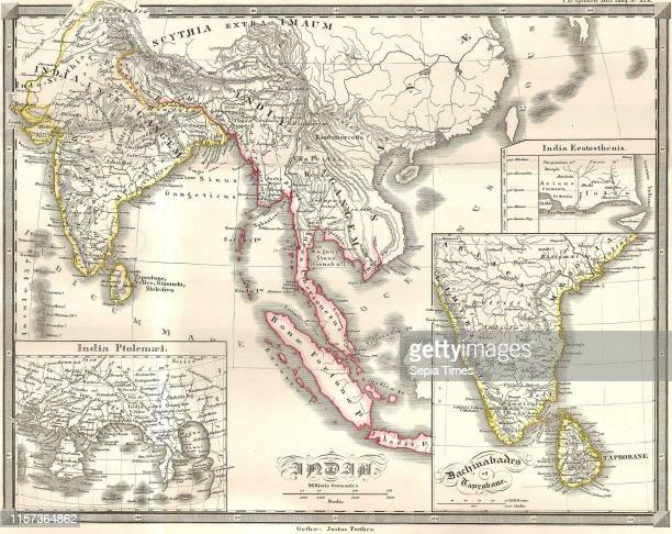 1855 Spruneri Map of India and Southeast Asia in Ancient Times