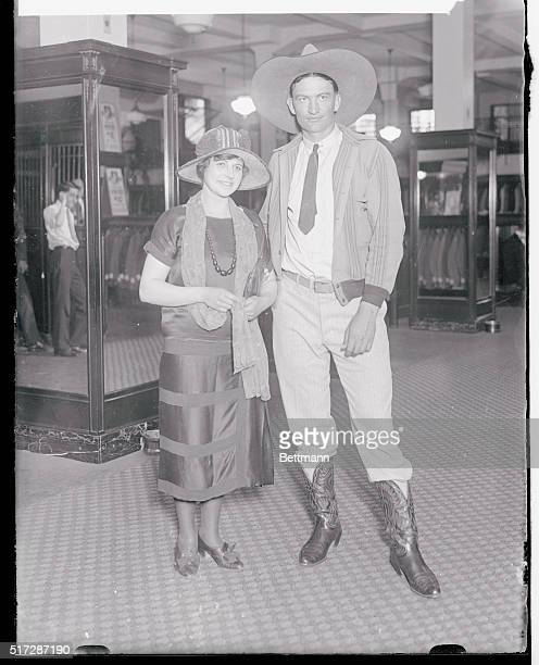 Spurns Millions for Cowboy New York New York Pretty Rene Hafley world's champion trick horsewoman known as the most proposed to woman in circusdom...