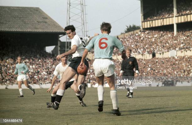 Spurs defender Maurice Norman in action during a First Division match against Manchester City at White Hart Lane on September 1 1962 in London England