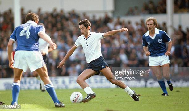 Spurs player Osvaldo Ardiles in action during a First Division Match between Tottenham Hotspur and Brighton at White Hart Lane on August 23 1980 in...