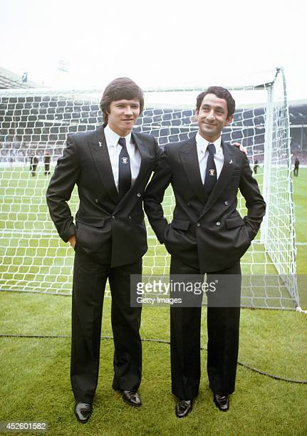 Spurs players Steve Perryman and Osvaldo Ardiles before the 1981 FA Cup Final between Tottenham Hotspur and Manchester City at Wembley Stadium on May...