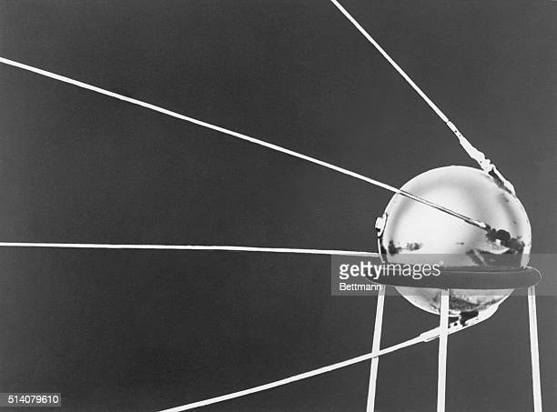 Sputnik I the first manmade satellite to orbit the Earth was launched by the Soviets from an undisclosed location on October 4 1957 Weighing 184...