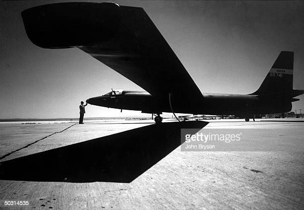 Spy plane like the one Francis Powers was piloting when shot down over Russia; at Edwards Air Force Base.