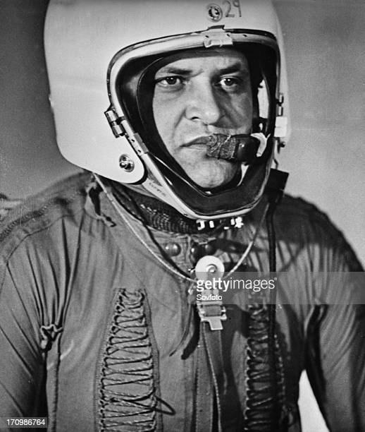 U2 spy plane pilot francis gary powers in his helmet and flight suit after he was shot down over soviet territory on may 1st ussr