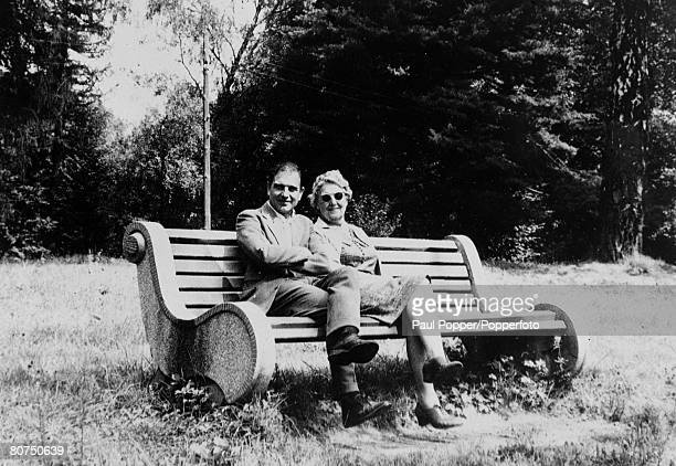 Spying Espionage Carpathian Mountains Russia September 1967 George Blake a British KGB spy pictured with his mother who had gone to Russia to visit...