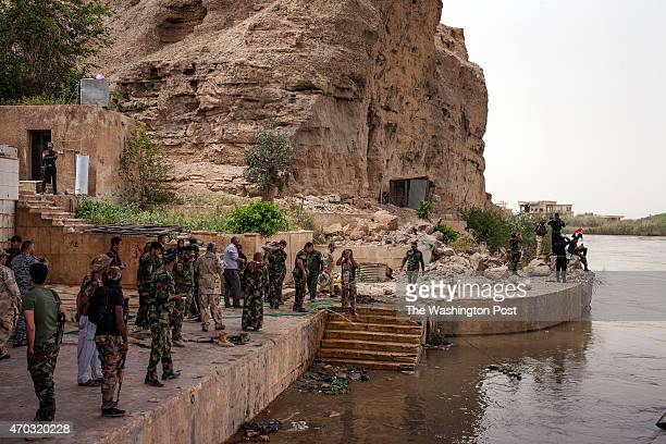 Spyker families of soldiers visiting the place where ISIS executed on the river or buried in mass graves Tikrit Iraq April 10 2015 Visitors mourned...