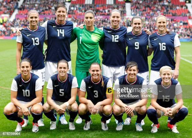 USA Squad Top row Alex Morgan Abby Wambach Hope Solo Lauren Cheney Heather O'Reilly Rachel Buehler Bottom row Carli Lloyd Kelley O'Hara Christie...