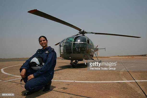 Squadron leader Namrita Chandi Naidu the seniormost woman pilot in the Indian Air Force