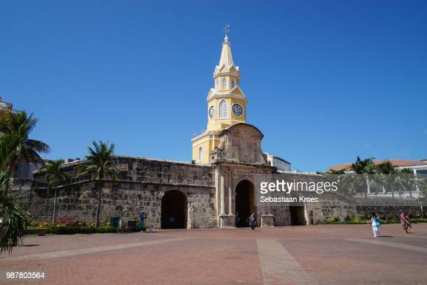 Square at the Clock Tower of Cartagena, People, Cartagena, Colombia