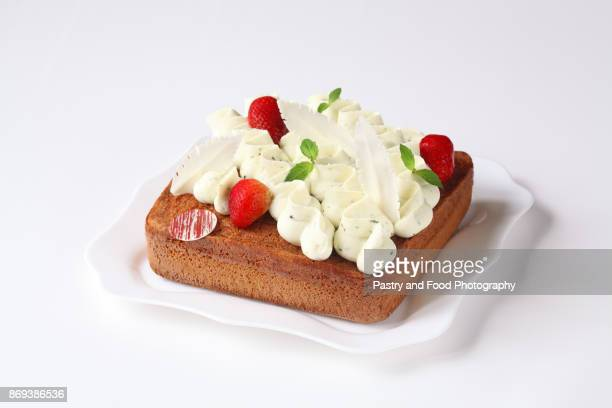 Square Basil Sponge Cake