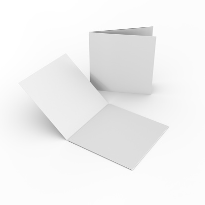 Square blank leaflets or brochures 523877229