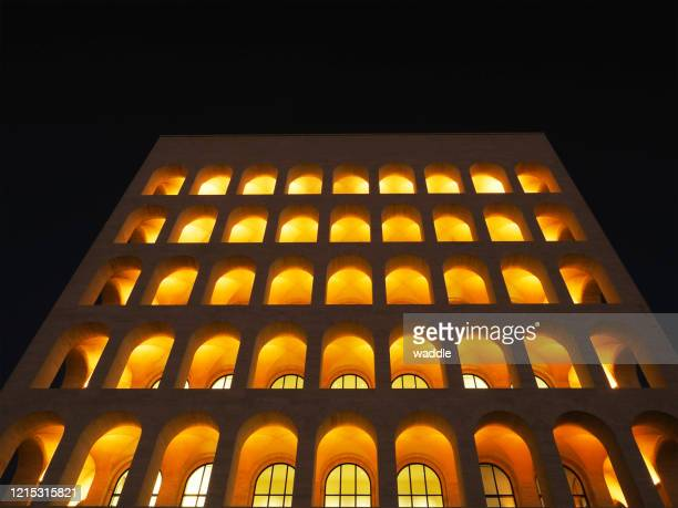square colosseum, rome - eur rome stock pictures, royalty-free photos & images